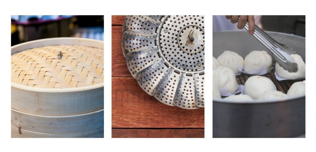 Different types of steamer baskets
