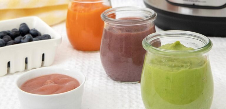 Homemade instant pot baby food
